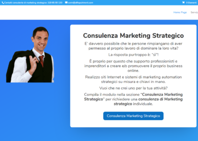 Consulente marketing automation - Sito Professionale che incorpora un Blog, un ecommerce ed è un sito Bancomat perché interfacciato al mio sistema di marketing automation strategico